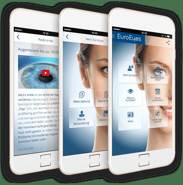 Holen Sie sich Ihre persönliche EuroEyes-App!
