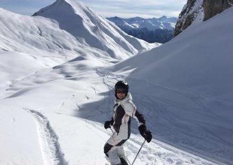 Patientin beim Skifahren