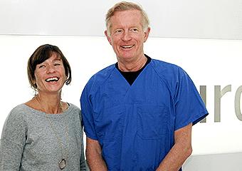 Sandra Voss mit Dr. Jørgensen