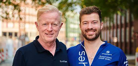 Dr. Jørgensen mit einem Mann